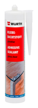 Glass-clear adhesive sealant