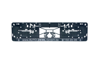 Complete printed Clipster number plate holder