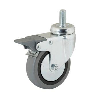 roue pivotante avec la vis sans t te rotative et frein de blocage 0683567538. Black Bedroom Furniture Sets. Home Design Ideas