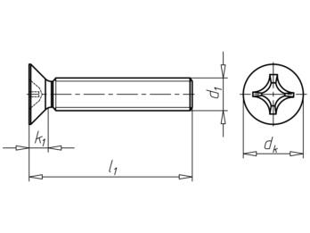 Senkschraube mit Kreuzschlitz H