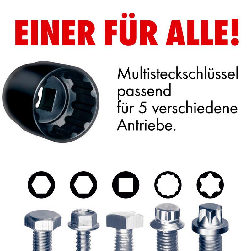 1/4 Zoll Multi-Steckschlüssel-Satz Black Edition - STESHSL-SORT-1/4ZO-BLACK-24TLG