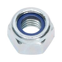 Dado esagonale, esecuzione alta con elemento di serraggio (inserto non metallico)