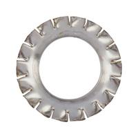 Зубчатая стопорная шайба, коническая, форма V