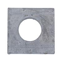 Scheibe, vierkant, keilförmig für U-Träger