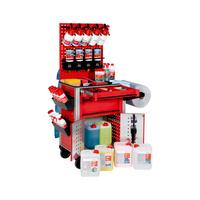 Fahrzeugaufbereitungs-Set für Einsteiger Profesionelles Arbeitsplatzsystem inklusive Pflegewagen