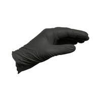 Gant nitrile noir non poudré jetable