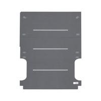 Bodenplatte mit integrierten Zurrschienen