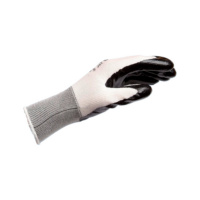 Protective glove, knittet with coating