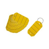 Etiquettes de clés avec anneaux