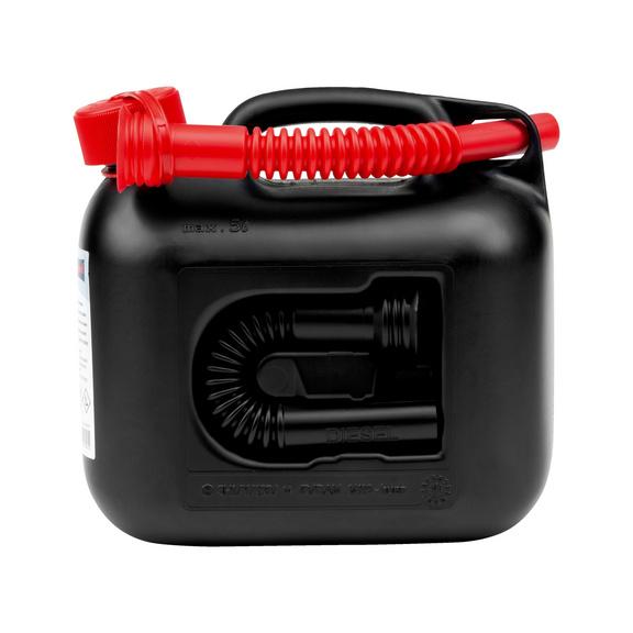 Kraftstoffkanister 5 Liter - KANI-KRAFTSTOFF-SCHW-2AUSLAUFROHRE-5LTR