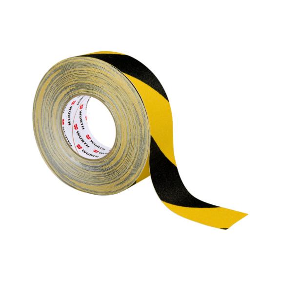 Ruban antidérapant noir/jaune 18 m