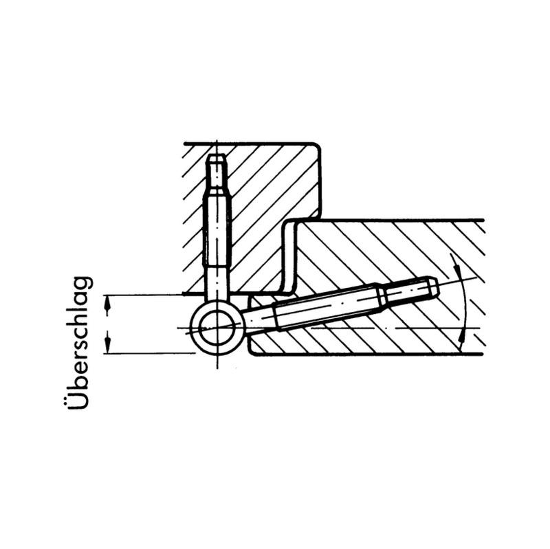 3D pánt ∅ 16 mm - 0