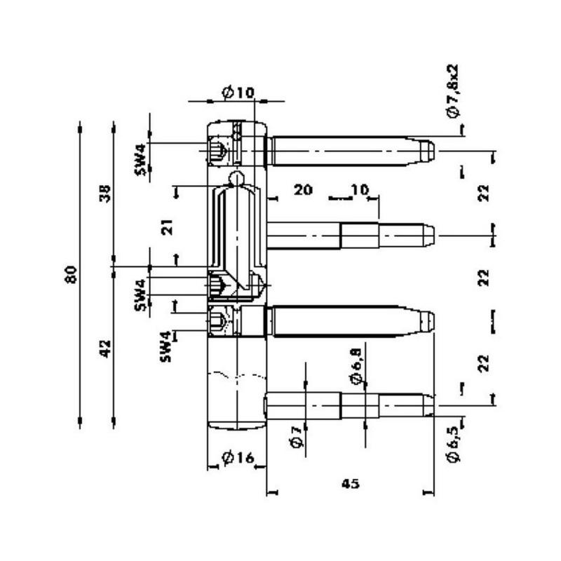 3D pánt ∅ 16 mm - 2