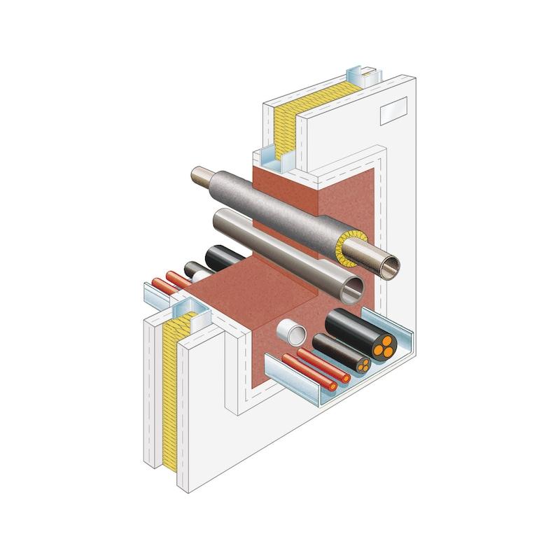 Mousse PU coupe-feu intumescente Bi-composants - 6