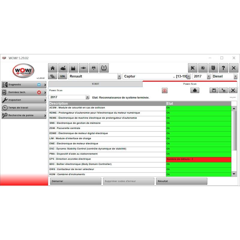 Licence données techniques WOW WTI 350 WTI 350