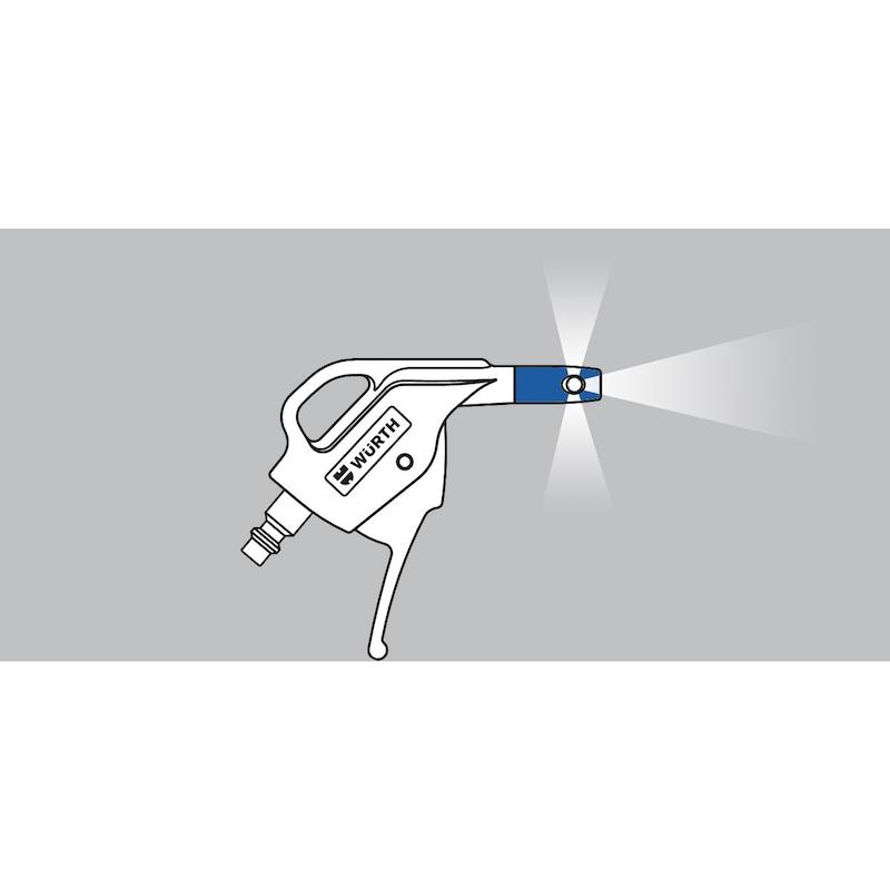 Soufflette composite à air comprimé Buse courte 6 mm - 3