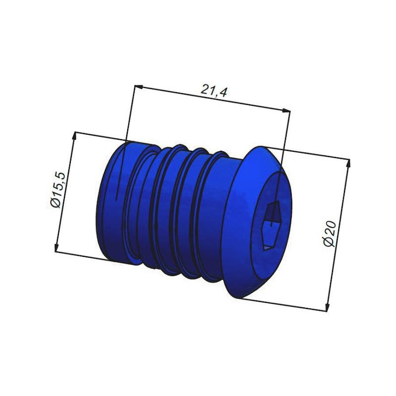 Bouchon de test pression Pour tubes multicouches Ø16 et 20 mm - 3