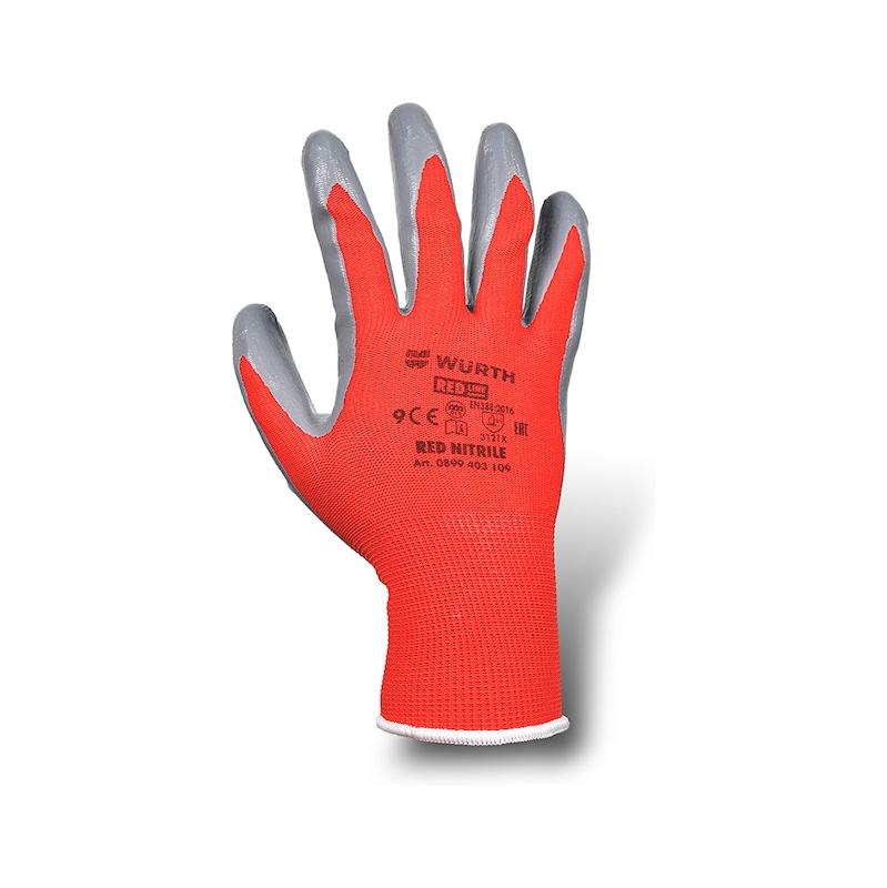 防护手套 红色,丁腈橡胶 - 2