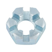 Castellated nut, low profile
