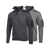 Work pullover half zip-neck