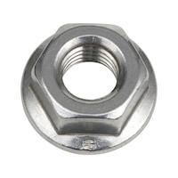 Serrated locking nut