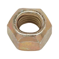 Hexagonal nut with clamping piece (all-metal)