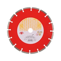 Diamond cutting disc for construction sites
