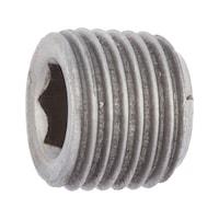 DIN 906 acciaio lucido misure in pollici