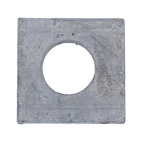 Washer, square, wedge-shaped for U sections