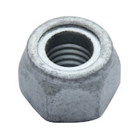 6 pcs Slotted Drive Metric DIN 1805 M30-1.5 Steel Zinc Plated Shaft Ring Nuts With Nylon Insert