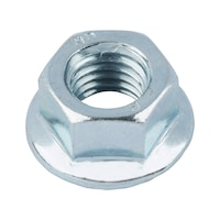 Serrated locking nut