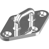 Pontet sur platine forme diamant inox A2