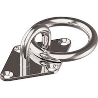 Oogplaat, ruitvorm met ring
