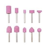Assortimento di mole abrasive a punta in ossido di alluminio con fusione speciale, rosa