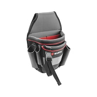 Electrician's belt pouch without metal parts