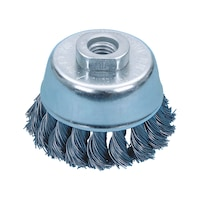 Braided cup brush (steel)