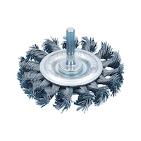 Shank round brush (braided steel wire)