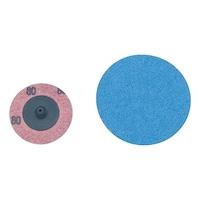 Small abrasive mini fibre disc
