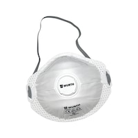Disposable breathing mask FFP2 with valve