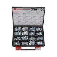 Tapping screws and combi-tapping screws, hexagon head, ORSY<SUP>®</SUP>assortment of 100