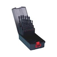 麻花钻头组套 高速钢 DIN 338,RN 型,118°