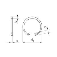Пружинное стопорное кольцо для отверстия