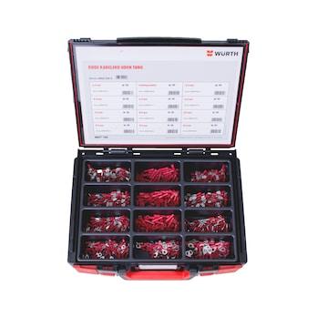 Sortiment med isolerede, røde kabelsko