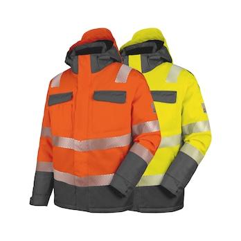 High-visibility jakke, neon, polstret, klasse 3