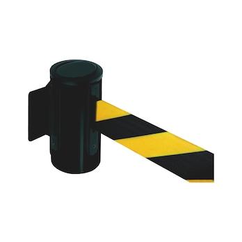 Vægkassette med udtrækkeligt bånd til afspærringer