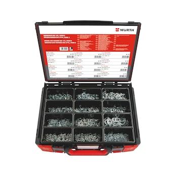 Fortandede låseskiver, DIKN 125/låseskive, DIN 127, sortiment