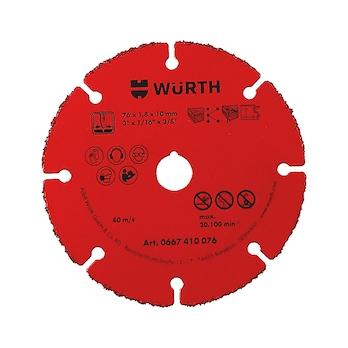 BO10,0-D76MM Doorslijpschijven met hardmetalen coating