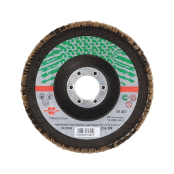 Disco abrasivo a lamelle per acciaio inossidabile