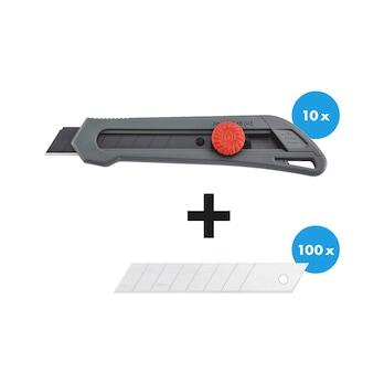 Cutter knife set, 110 pieces