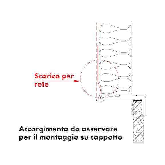 Profilo per controtelaio caldo - PROFILO CONTROTEL. PVC 50X25MM 2,55M